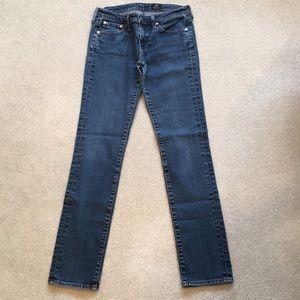 AG denim jeans, slim style, size 27R